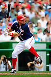 4 July 2009: Washington Nationals third baseman Ryan Zimmerman in action against the Atlanta Braves at Nationals Park in Washington, DC. The Nationals rallied with 4 runs in the 8th inning to defeat the Braves 5-3 and take the second game of the 3-game weekend series. Mandatory Credit: Ed Wolfstein Photo