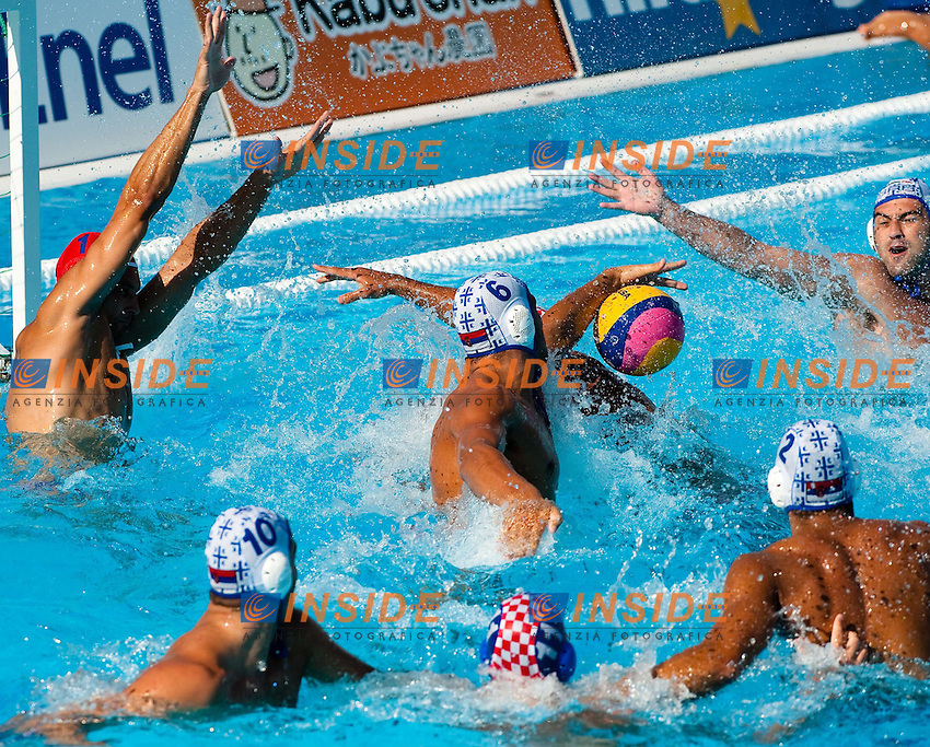 Roma 30th July 2009 - 13th Fina World Championships From 17th to 2nd August 2009..Water Polo Men..Semifinal....SRB 12 - 11 CRO....photo: Roma2009.com/InsideFoto/SeaSee.com