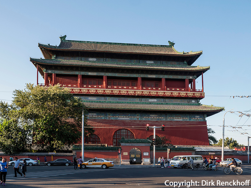 Trommelturm-Gulou, Peking, China, Asien<br /> drum-tower Gulou, Beijing, China, Asia