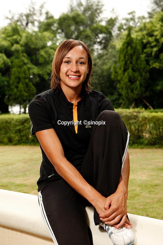 British heptathlete Jessica Ennis at the Westin<br /> Resort, Macau<br /> 17 August, 2007