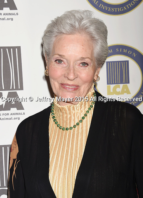 BEVERLY HILLS, CA - OCTOBER 24: Actress Lee Meriwether attends the Last Chance for Animals Benefit Gala at The Beverly Hilton Hotel on October 24, 2015 in Beverly Hills, California.