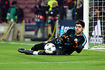 UEFA Champions League 2017/2018.<br /> Round of 16 2nd leg.<br /> FC Barcelona vs Chelsea FC: 3-0.<br /> Thibaut Courtois.