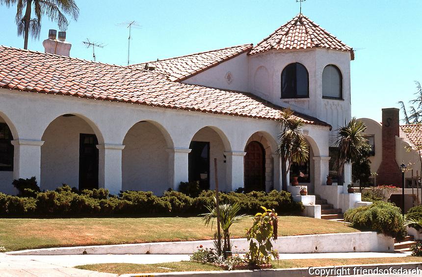 San Diego: Spanish Revival. Mission Hills.