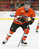 Tucker Brockett (Princeton - 7) - The Harvard University Crimson defeated the visiting Princeton University Tigers 5-0 on Harvard's senior night on Saturday, February 28, 2015, at Bright-Landry Hockey Center in Boston, Massachusetts.