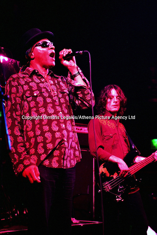 Pictured L-R: Arthur Lee and David Chapple 08 February 2004<br /> Re: Love with Arthur Lee at the Coal Exchange, Cardiff, south Wales, UK.