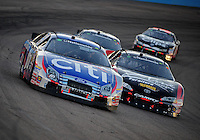 Apr 17, 2009; Avondale, AZ, USA; NASCAR Nationwide Series driver Greg Biffle (60) races alongside Kyle Busch (18) during the Bashas Supermarkets 200 at Phoenix International Raceway. Mandatory Credit: Mark J. Rebilas-