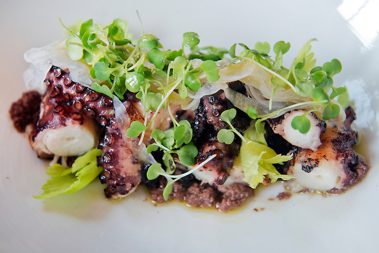 UNITED STATES - JULY 18: An octopus dish is pictured at Ninnella, located across from Lincoln Park on Capitol Hill. (Photo By Tom Williams/CQ Roll Call)