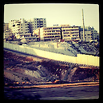 Jerusalem, Israel. September 19th 2011.The separation wall between Jerusalem and Ramalah (taken from the Israeli side)....