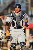 Staten Island Yankees catcher Francisco Arcia during a game vs. the Jamestown Jammers at Russell Diethrick Park in Jamestown Jammers, New York July 15, 2010.   Jamestown defeated Staten Island 5-1.  Photo By Mike Janes/Four Seam Images