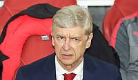 Arsenal Manager Arsene Wenger during the UEFA Europa League Semi Final 1st leg match between Arsenal and Atletico Madrid at the Emirates Stadium, London, England on 26 April 2018. Photo by Andy Aleksiejczuk / PRiME Media Images