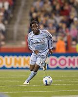 Colorado Rapids defender Ugo Ihemelu (18). The New England Revolution defeated the Colorado Rapids, 1-0, at Gillette Stadium in Foxboro, MA on September 29, 2007.