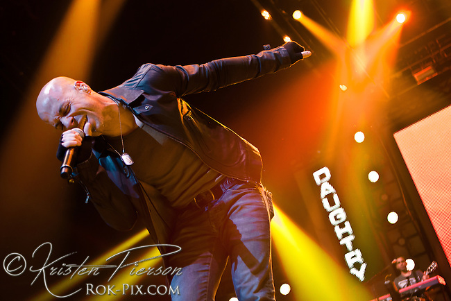 Daughtry perform at Mohegan Sun Arena, Uncasville, Connecticut, February 17, 2013