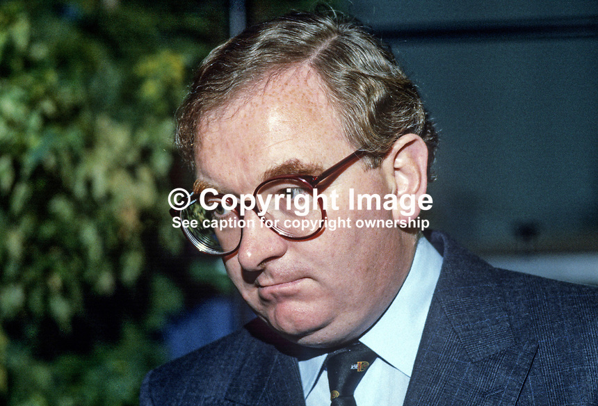 Robert Dunn, aka Bob Dunn, MP, Conservative Party, UK, junior minister of education, 19840146RD1.<br />