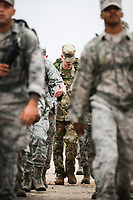 Service members march the last leg of the 11th annual Jacobson Ruck March Thursday, Sept. 28, 2017, at Goodfellow Air Force Base.