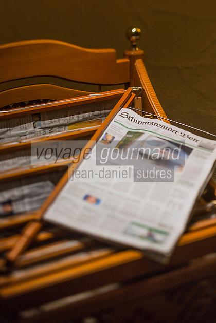 Europe/Allemagne/Bade-Würrtemberg/Forêt Noire/Baiersbronn/Gärtenbühlweg: Hôtel: Bareiss, les journaux à disposition