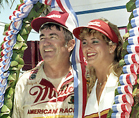 Bobby Allison victory lane Pepsi Firecracker 400 Daytona International Speedway Daytona Beach FL July 1987 (Photo by Brian Cleary/www.bcpix.com)