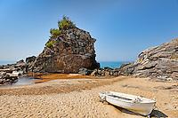 Rock formations in Kontogialos at Corfu, Greece