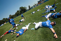 20 july 2010: Players of Team France are seen during a practice prior to the 2010 European Championship Seniors, in Neuenburg, Germany.
