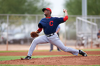 Cleveland Indians pitcher Juan Hillman (33) during an instructional league game against the Los Angeles Dodgers on October 15, 2015 at the Goodyear Ballpark Complex in Goodyear, Arizona.  (Mike Janes/Four Seam Images)