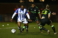 Ryan Jackson of Colchester United ad Reuben Reid of Forest Green Rovers during Colchester United vs Forest Green Rovers, Sky Bet EFL League 2 Football at the JobServe Community Stadium on 12th March 2019