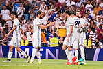 Real Madrid's player Asensio, Nacho, Gareth Bale, Alvaro Morata and Sergio Ramos during the XXXVII Santiago Bernabeu Trophy in Madrid. August 16, Spain. 2016. (ALTERPHOTOS/BorjaB.Hojas)