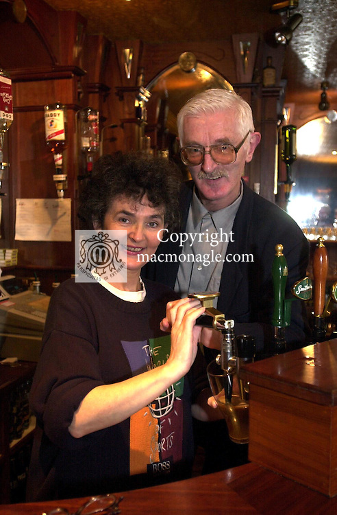 Maire deBarra and husband  Pat Leahy who are selling their Dingle pub for over &pound;1,000,000. The popular waterdside bar was witrhdrawn from auction last week after bidding reached the magical million and negotiations are now under way with potential buyers. The couple plan to live in Ballyferriter way from all the hustle and bustle of the licensing trade.<br /> Picture by Don MacMonagle