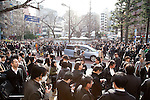 March 11, 2011, Tokyo, Japan - A huge crowd takes refuge at a park in Tokyo's Ikebukuro area following a severe earthquake that struck Japan's northeastern prefectures on Friday, March 11, 2011. Hundreds of people are feared dead after the country's biggest earthquake with a magnitude of 8.9 since records began struck the northeastern coasts, unleashing a 10-metre tsunami that swept away buildings, ships and vehicles. (Photo by AFLO) [3609] -mis-