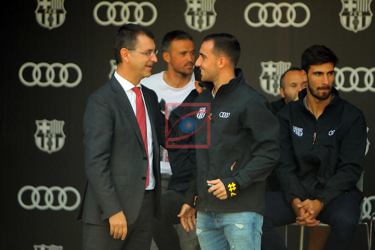 AUDI Premium Partner del FC Barcelona.<br /> Guillermo Fadda &amp; Paco Alcacer.