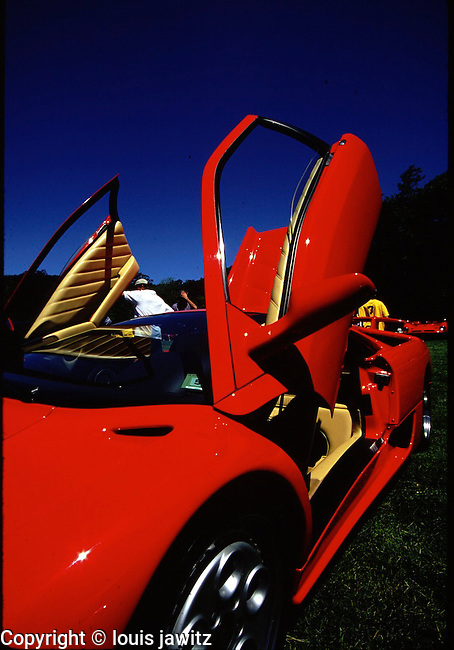Lamborghini Countach  Red , mid-engined sports car produced by Italian automaker Lamborghini from 1974 to 1990