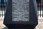 Information about statue Colonel Henry Steele Olcott, American Buddhist, Fort Railway Station, Colombo, Sri Lanka, Asia