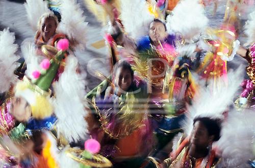 Rio de Janeiro, Brazil. Carnival; samba dancers in movement.