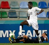Ghana's Yiadom Boakye (F) and USA's Oscar Sorto (B) during their FIFA U-20 World Cup Turkey 2013 Group Stage Group A soccer match Ghana betwen USA at the Kadir Has stadium in Kayseri on June 27, 2013. Photo by Aykut AKICI/isiphotos.com