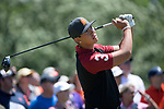 SUGAR GROVE, IL - MAY 29: Rico Hoey of the University of Southern California tees off during the Division I Men's Golf Individual Championship held at Rich Harvest Farms on May 29, 2017 in Sugar Grove, Illinois. (Photo by Jamie Schwaberow/NCAA Photos via Getty Images)