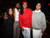 "LOS ANGELES - FEBRUARY 19: Pamela Adlon, Donald Glover, Lena Waithe and Zazie Beetz at the party for FX's ""Atlanta Robbin' Season"" at the Clifton Cafeteria on February 19, 2018 in Los Angeles, California.(Photo by Frank Micelotta/FX/PictureGroup)"