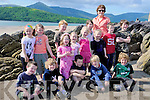 REFURBISHMENT: Pictured on Cappa Beach, Cloghane, are the pupils of Scoil Na?isiu?nta an Chlocha?in, who have been relocated to Mea?nscoil an Leith.Triu?igh, Cappa, while building works are being undertaken at the old school in Cloghane village. Fundraising activities to raise money for refurbishment.of the school continues over the summer months - July 18th: Night at the Horses, O'Connor's Bar, Cloghane; July 26th: Coffee Morning in Halla le Che?ile;.August 2nd: Bag packing in Garvey's Supermarket, Dingle; August 17th: Rince Mo?r and Disco in the Marquee, O'Connor's Bar, Cloghane.