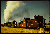 D&amp;RGW #480 K-36 ? With flanger and 2 cabooses #0586 &amp; D&amp;RGW #0584.<br /> D&amp;RGW