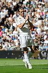 Real Madrid´s Gareth Bale apologizes during 2014-15 La Liga match between Real Madrid and Granada at Santiago Bernabeu stadium in Madrid, Spain. April 05, 2015. (ALTERPHOTOS/Luis Fernandez)