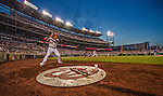 26 July 2013: Washington Nationals shortstop Ian Desmond stands on deck with Jayson Werth at bat against the New York Mets at Nationals Park in Washington, DC. The Nationals bounced back from their loss in the first game of their day/night doubleheader, with a 2-1 nightcap win. Mandatory Credit: Ed Wolfstein Photo *** RAW (NEF) Image File Available ***