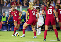 Carson, CA - Thursday August 03, 2017: Lynn Williams  during a 2017 Tournament of Nations match between the women's national teams of the United States (USA) and Japan (JAP) at StubHub Center.
