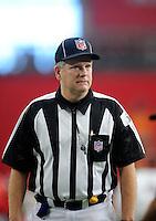 Sept. 13, 2009; Glendale, AZ, USA; NFL referee Mike Weir during the game between the Arizona Cardinals against the San Francisco 49ers at University of Phoenix Stadium. San Francisco defeated Arizona 20-16. Mandatory Credit: Mark J. Rebilas-