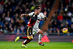 Roberto Roman Triguero, Tito L V, of Rayo Vallecano and Marcelo Vieira Da Silva of Real Madrid run for the ball during the La Liga 2018-19 match between Real Madrid and Rayo Vallencano at Estadio Santiago Bernabeu on December 15 2018 in Madrid, Spain. Photo by Diego Souto / Power Sport Images