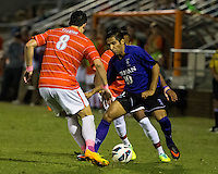The number 24 ranked Furman Paladins took on the number 20 ranked Clemson Tigers in an inter-conference game at Clemson's Riggs Field.  Furman defeated Clemson 2-1.  Manolo Sanchez (8), Martin Ontiveros (10)