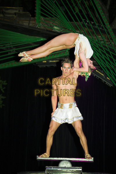 Acrobats performing at La Tropicana nightclub, Havana, Cuba