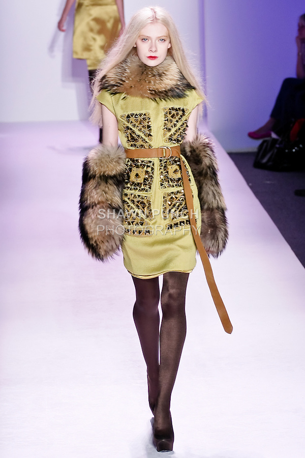 Lovanni Pinnow walks the runway in an outfit by Thuy Diep, for her Thuy Fall Winter 2010 collection fashion show, during Mercedes-Benz Fashion Week Fall 2010.