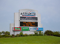 Jun 9, 2019; Topeka, KS, USA; General view of the sign marquee outside of Heartland Motorsports Park during the NHRA Heartland Nationals. Mandatory Credit: Mark J. Rebilas-USA TODAY Sports