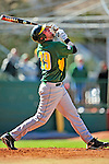 19 April 2009: University of Vermont Catamounts' first baseman Ethan Paquette, a Junior from West Burke, VT, at bat against the University at Albany Great Danes at Historic Centennial Field in Burlington, Vermont. The Great Danes defeated the Catamounts 9-4 in the second game of a double-header. Sadly, the Catamounts are playing their last season of baseball, as the program has been marked for elimination due to budgetary constraints on the University. Mandatory Photo Credit: Ed Wolfstein Photo