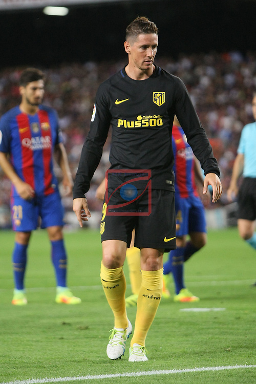 League Santander 2016/2017. Game: 5.<br /> FC Barcelona vs Atletico de Madrid: 1-1.<br /> Fernando Torres.