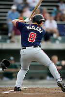 Nick Weglarz / Kinston Indians..Photo by:  Bill Mitchell/Four Seam Images
