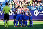 Atletico de Madrid Andrea Pereira, Vaitiare Kenti, Marta Corredera and Amanda Sampedro during match of La Liga Femenina between Atletico de Madrid and FC Barcelona at Vicente Calderon Stadium in Madrid, Spain. December 11, 2016. (ALTERPHOTOS/BorjaB.Hojas)