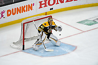 June 6, 2019: Boston Bruins goaltender Tuukka Rask (40) warms up before game 5 of the NHL Stanley Cup Finals between the St Louis Blues and the Boston Bruins held at TD Garden, in Boston, Mass. The Blues defeat the Bruins 2-1 in regulation time. Eric Canha/CSM